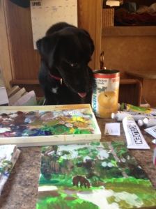 painting FL painting with Tommy's help