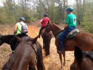 riding with Chatahoochie trail riding club folks checking where we are