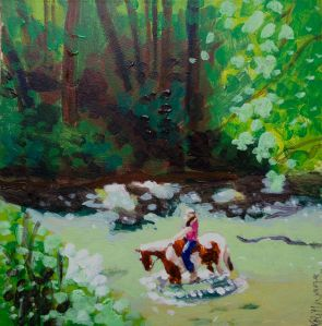 Maryland painting of Bridgett on Larry (formerly bi-polar Larry)