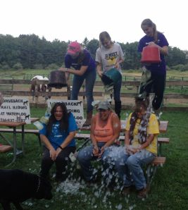 als ice bucket challenge X 3